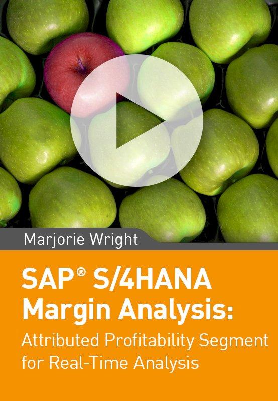 SAP S/4HANA Margin Analysis: Attributed Profitability Segment for Real-Time Analysis