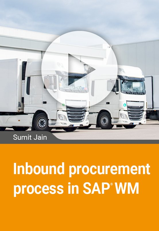 Inbound procurement process in SAP WM
